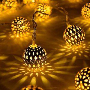 20FT 30 LED Moroccan Ball String Lights